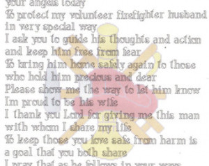 Firefighter's / Fireman Wife Pr ayer counted Cross Stitch Pattern ...