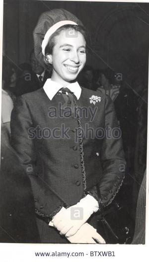 princess anne now princess royal 1972 picture shows princess anne