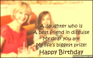 Sweet birthday wishes to stepdaughter from mom