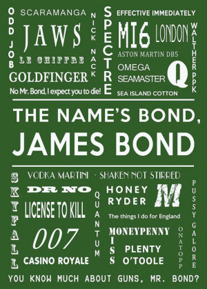 James Bond Print 007 print James Bond Movie by GCFPhotography, $18.00