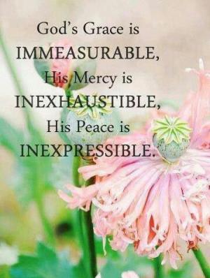 God's grace, mercy, peace