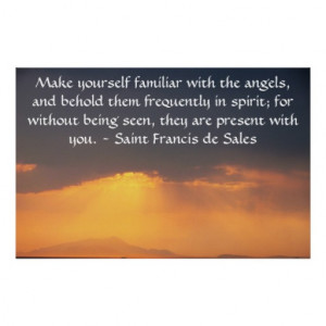 Saint Francis de Sales QUOTE about Angels Print