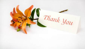 ... Thank You Notes or Thank You Cards o Receipt of gift such as birthday