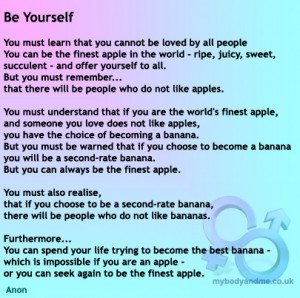 Be Yourself Inspirational Poem
