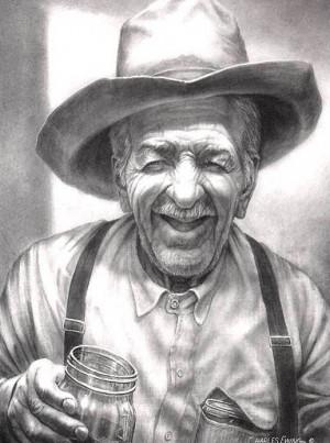 funny old cowboy gunpowder joke grandpa joe was a tough old cowboy ...