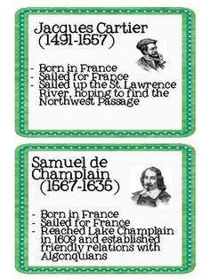 Here's a set of European Explorer printable information cards on John ...