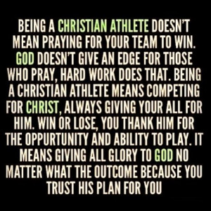 Being a Christian Athlete More