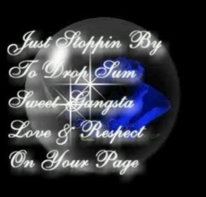 ... Graphics > Showing Some Love > drop some sweet gangsta love Graphic