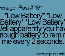 low battery teen post funny quote