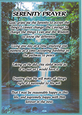 Serenity Prayer Greeting Cards
