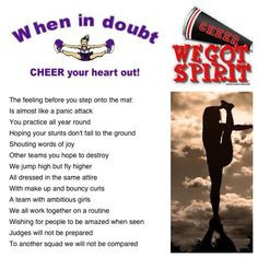 Cheer poem I wrote and created a collage with it :) #cheerleading # ...