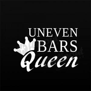 Uneven Bars Queen Word Decal
