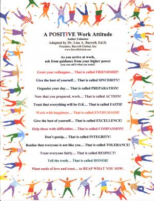 Positive Attitude Work