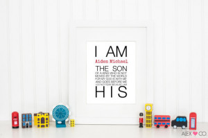 , Quote Print, Inspirational Quote, Wall Quotes, I Am Printable, Boy ...