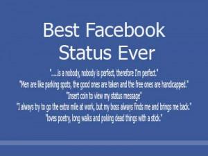 Best Facebook Status Ever