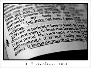 Love is Patient love is Kind – Bible Quote for Friendster