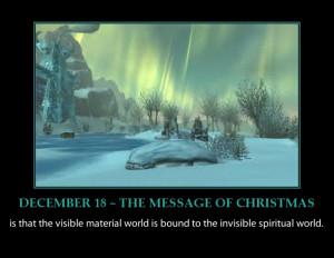 CHRISTMAS MESSAGE ADVENT CALENDAR-BEAUTIFUL WINTER SCENE