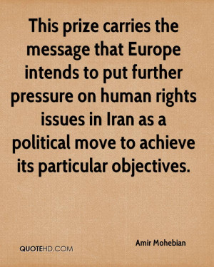 In Iran As A Political Move To Achieve Its Particular Objectives