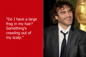 Joaquin Phoenix frightened a reporter by asking this oddball question ...