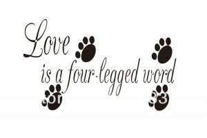 love is a four legged word decal wall vinyl decor sticker home ...