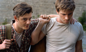 Sam Riley, left, and Garrett Hedlund as Sal Paradise and Dean Moriarty ...