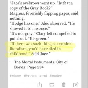 Hahahahaha favorite tmi quotes