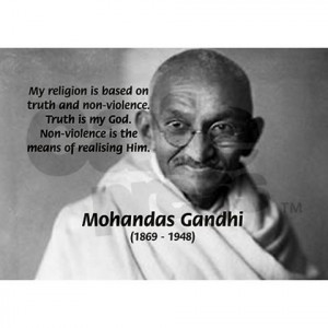 quotes on violence. Gandhi Religion Non-violence