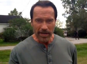 Arnold Schwarzenegger delivers his most famous movie quotes