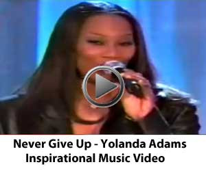 Yolanda Adams Never Give Up