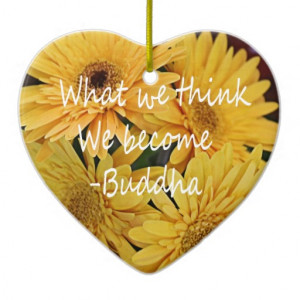 Pretty yellow flowers and an inspirational quote ornament
