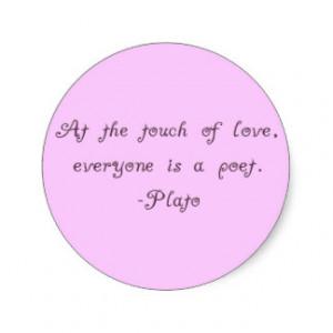 Plato Love Poet Quote Sticker