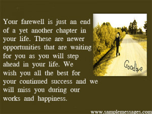 Farewell Quotes Good Luck Best