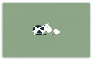 Funny Cow Egg HD wallpaper for Standard 4:3 5:4 Fullscreen UXGA XGA ...