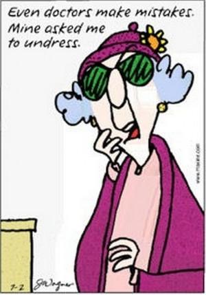 Seven assorted, vintage, Maxine cartoons