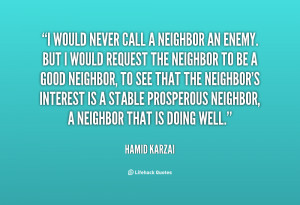 Quotes About Good Neighbors
