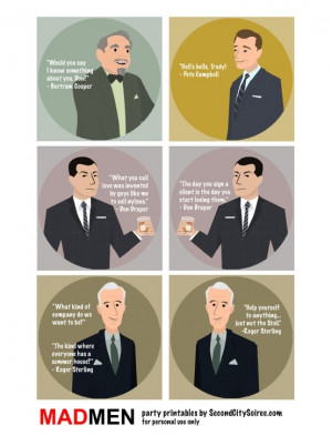 Mad Men' party quotes. by MarieColette