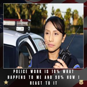 """Police Officer Motivation Poster """"Police Work"""""""