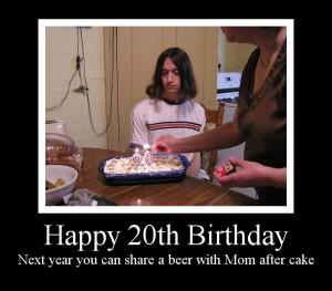 Happy 20th Birthday Funny Funny 20th bir.