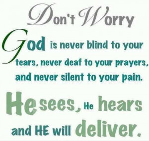 Don't Worry God Is Never