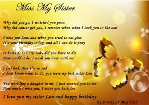 miss my sister