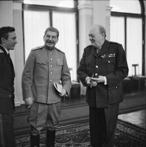 Winston Churchill shares a joke with Marshal Stalin (with the help of ...