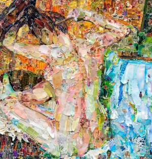 Illustration art crafts collage vik muniz