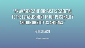 our past is essential to the establishment of our personality and our ...