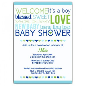 Wording suggestions for Baby Shower Invitations