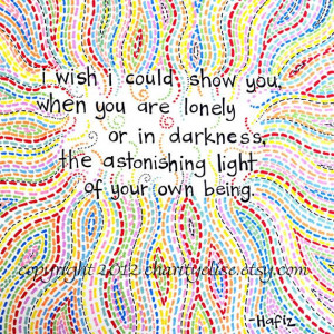 Brightly Colored Art Print Hafiz Quote by chARiTyelise.etsy.com