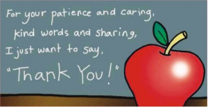 ... and caring, kind words and sharing, I just want to say, Thank you