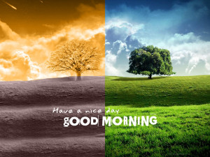 Morning Best Good With Quotes Wallpaper with 1024x768 Resolution