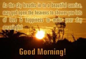 Good Morning Sunrise Quotes...