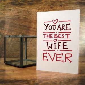 Best Husband Ever Best ever husband/wife card