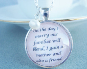 ... mother in law jewelry, quote pendant, quote jewelry, mother in law